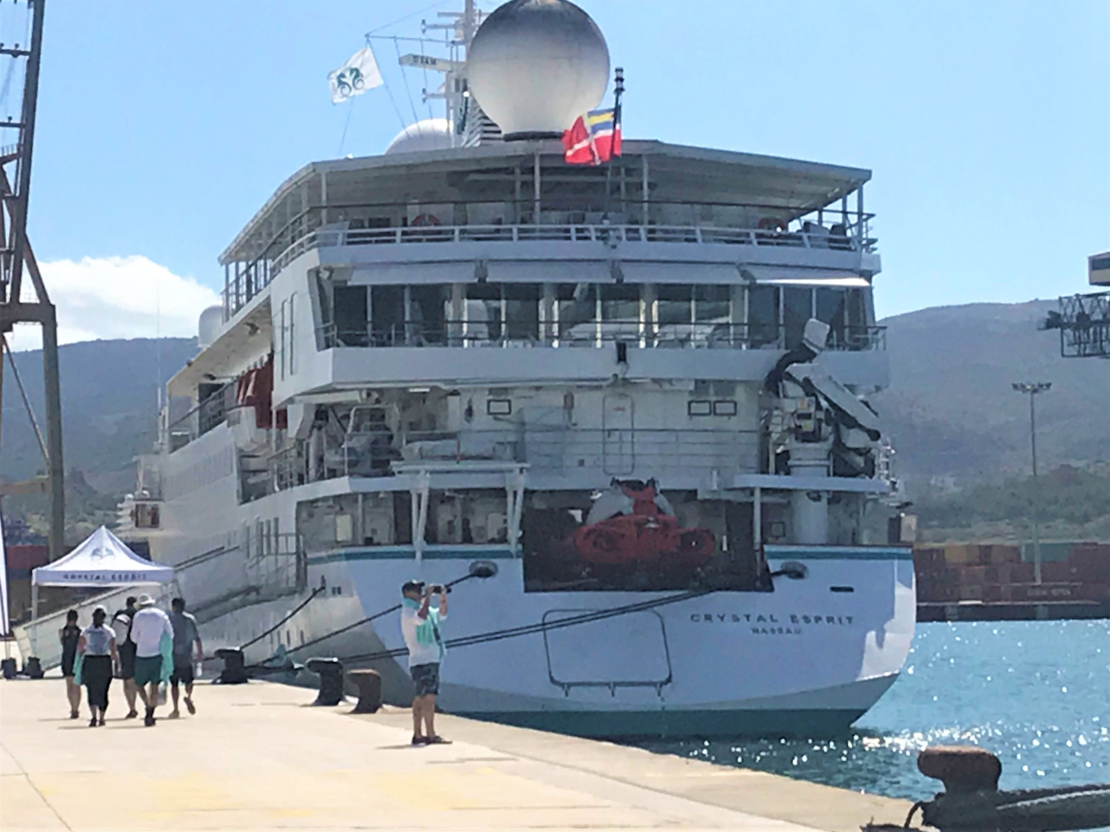 CRYSTAL ESPRIT, A SMALL SUPER LUXURY BOAT, VISITS THE PORT OF CARTAGENA FOR THE FIRST TIME